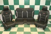 18and039 Camaro Ss Coupe Black Heated Cooled Leather Dual Power Bucket Seats Backseat