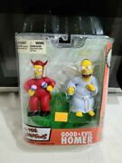 New Mcfarlane Toys The Simpsons Good And Evil Homer Figure Set