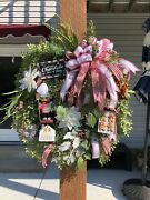 Oh Snap Itand039s Christmas Time-- Farmhouse Holiday Winter Premium 30l Door Wreath