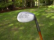 Hendry And Bishop Antique Golf Mitre Brand Hickory Wood Shaft Dreadnought Niblick