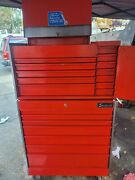2 Snap-on Top Box Kr-537-a And Kr-557-b Rolling Bottom Tool Box - Vintage Snapon