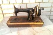 Antique Imperial Tsarism Russian Modern Manual Desk Table Sewing Machine Works