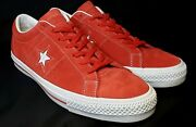 Converse Cons One Star Pro Suede Unisex Shoe's Men's Size 12 Red/white 149865c
