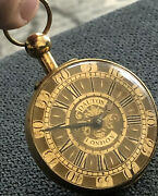 John Dalton London Fusee Pocket Watch Copper Litherland Davies And Co Liverpool