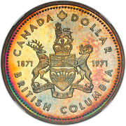 1971 Canada S1 British Columbia Sp67 Ngc Toned Certified Coin