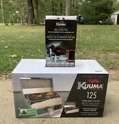 Kuuma Stow N Go 125 Barbecue Gas Grill 58140 Stainless Steel Marine Boat + Cover