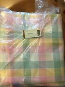 Longaberger Pastel Plaid Five Yard Fabric Cut New In Package Free Shipping