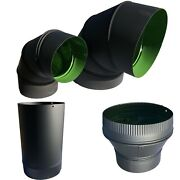 Over 1000 Pieces Of 8 And 5 Durable Flue Coated Stovepipe Elbo-straight-reduce