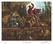 Arnold Friberg Puffing Billy Rcmp Limited Art Print Northwest Mounted Police