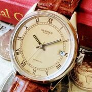 Hermes Manual Winding Watch 1960s Menand039s Antique Switzerland Watch Case Size 35mm