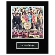 Sir Peter Blake Signed Photo Display - The Beatles Icon Autograph +coa