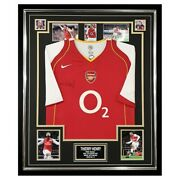 Signed Thierry Henry Shirt - Framed Arsenal Fc Icon Jersey +coa