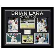 Signed Brian Lara Framed Display - Not Out 400 World Record +coa