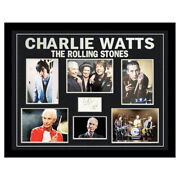 Signed Charlie Watts Photo - Framed The Rolling Stones Icon +coa