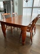 Lexington Dining Set, Cherry Table, 6 Chairs, Incl Leaf And Custom Cover