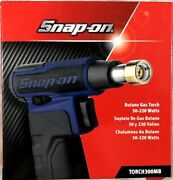 New Snap-on Butane Gas Torch 50-220 Watts In Power Blue Torch300mb