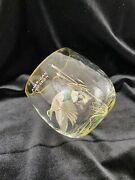 Vtg Ned Smith Mid Century Roly Poly Optic Bar Glass American Widgeon /r