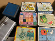 8 Vintage Metal Lunchboxes No Thermoses.