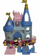 Htf Fisher Price Little People Disney Princess Songs Palace Blue And Gold Figures