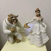 Lenox Disney Bell Andthe Beast 2 Figurines Beauty My Hand My Heart Is Yours F/s