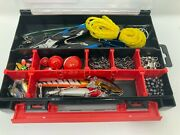 Fishing Tackle Box Lure Box With Lures Spinners Hooks Sinkers Swivels Leads