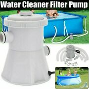 Pool Pumps Easy Set Above Ground Swimming Pool Cartridge Filter Pump System Us