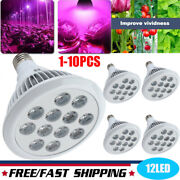12 Led Red Blue Grow Light Bulb Indoor Greenhouse E27 12w Lamp For Flower Lots