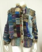 Vintage Woven Wool Jacket By Nancy Paap Sante Fe Rare Collectible Size Large