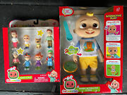New 2021 Cocomelon Interactive Jj Doll And 3 Family Figures 8 Pack- Toy Bundle