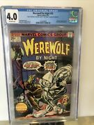 Werewolf By Night 32 Cgc 4.0 1st Moon Knight Off-white Pages