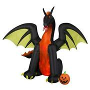 Animated Airblown Fire And Ice Dragon 9 Foot Inflatable Halloween Decoration
