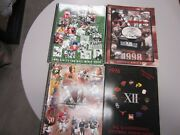 Lot Of 4 Big 10 College Football Conference Media Guides 1999,1998,1997,1996