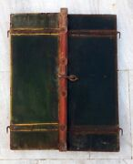 Rare Antique Hand Carved Wood Old Indian House Decorative Window Wall Hanging