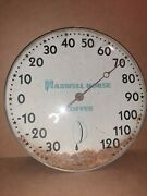 Works Vintage Maxwell House Coffee Thermometer Metal / Glass Advertising Sign