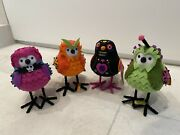 🎃rare Target Halloween 2021 Set Of Four 4 Birds Hyde And Eek Featherly Friends