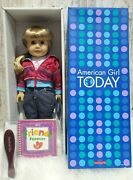 American Girl Doll Today 3 Gt3g Blue Eyes/blonde Hair Brand New In Box