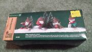 Dept 56 North Pole Woods Elves Gnomes Set Of 4 Village Accessory Pine Cone Hats