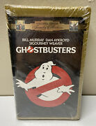 Vhs Ghostbusters 1984 Movie Gold Clam Shell New And Sealed Columbia Tristar