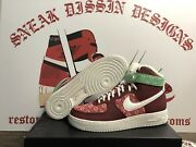 Mens Nike Air Force 1 High Christmas Sweater Size 11.5 Dunk Low High Blazer Af1