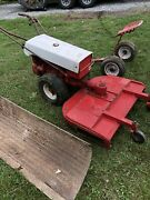 Gravely Walk Behind Lawn Mower Tractor W/deck Blade And Velky Sulky Rider