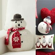 Pottery Barn Cozy Archie Snowman Shaped Pillow Brand New Sold Out Christmas 14