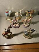 7 Small Carousel Horses And Other Animals 5 Inches Tall Beautiful