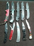10 Pocket Knife Lot - Airport Confiscation Lot Tsa - Smith And Wesson Dewalt