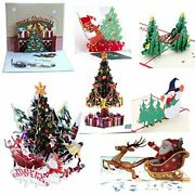 7pcs 3d Pop Up Colorful Christmas Greeting Cards Merry 7pack 3d Christmas Cards