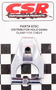 Csr Performance Chevy Distributor Hold Down Clamp - Clear P/n - 670c