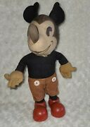 Vintage 1930s Mickey Mouse Disney Knickerbocker Antique Doll 11.5 Inches