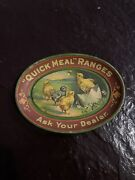 Antique Quick Meal Ranges Ask Your Dealer Oval Tip Tin Tray
