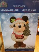 Jim Shore Disney Traditions Christmas Old St Mick Large 17 Inch New Mickey Mouse