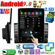 9.7and039and039 Car Stereo Bluetooth Radio Android 9.1 Wifi Gps Vertical Touch Screen 2din