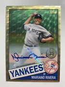 Mariano Rivera 2020 Topps Update And03985 Topps Silver Pack Chrome Auto Superfractor